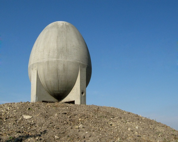 A huge concrete egg thing (yes, that's the technical term.)