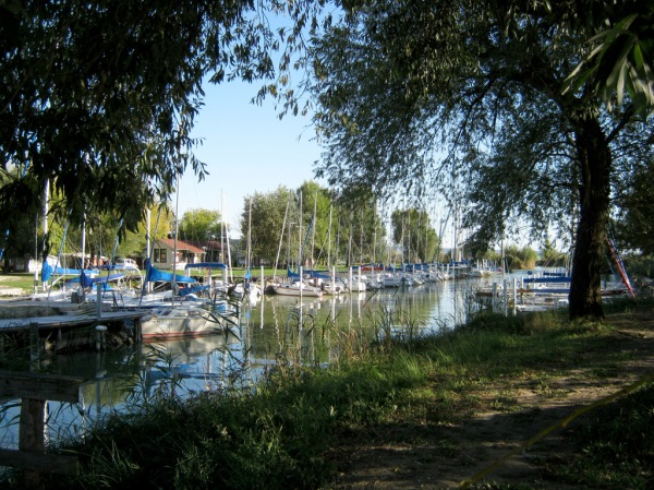 A marina in Keszthely, reminiscent of where I grew up in Minnesott Beach, North Carolina.