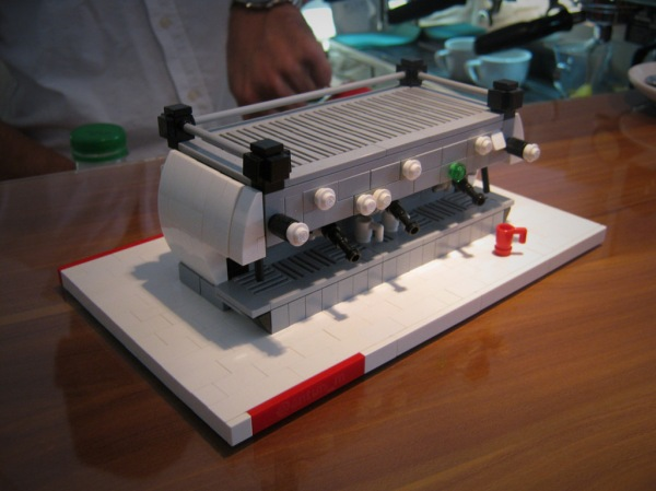 And a near-perfect LEGO model of the La Marzocco made by a loyal customer.