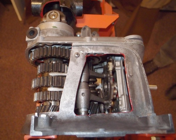 Another view of the transmission.