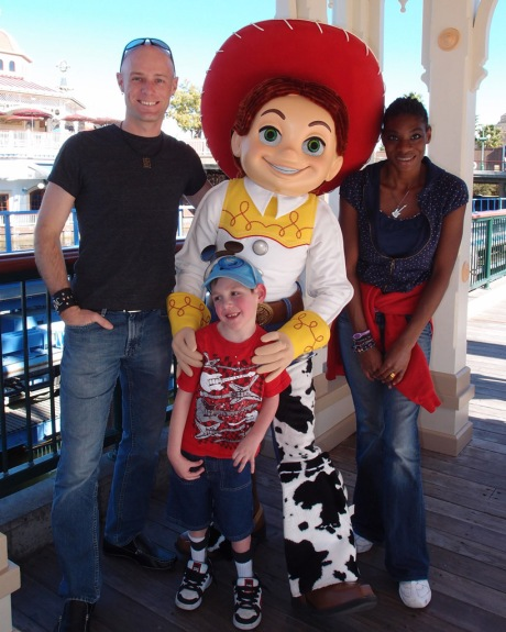 Kendra, Tayt and I with Jessie from Toy Story.