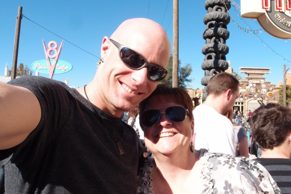 My awesome sister Taryn and I in Radiator Springs.
