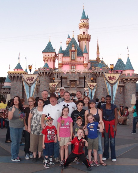 My awesome family and their castle.