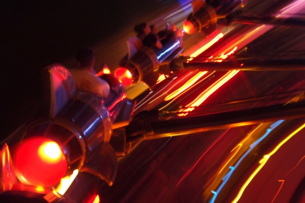Getting dizzy on the Astro Orbitor.