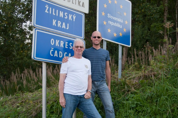 Dad and I on the border of Slovakia.